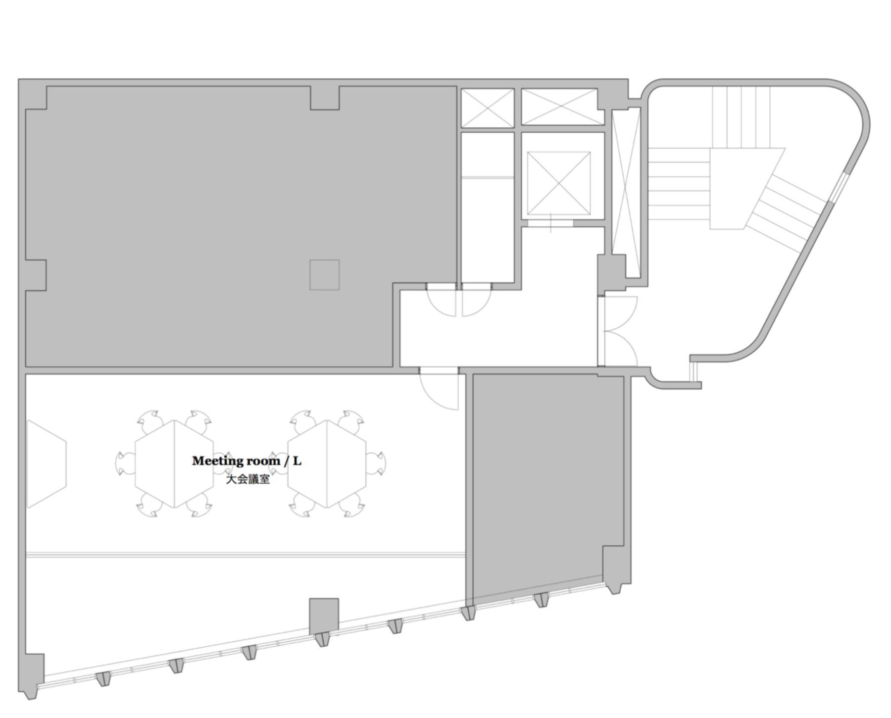 新宿・代々木 シェアオフィス x コワーキング | Connecting The Dots YOYOGI|地下レイアウト